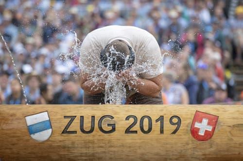 Nick Alpiger im 1. Gang. (Bild: KEYSTONE/Urs Flüeler, Zug, 24. August 2019)