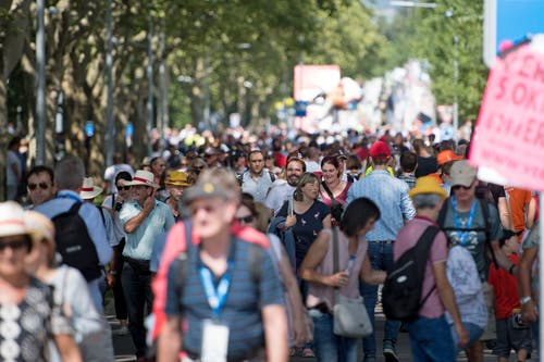 Ein riesiges Volksfest. (Bild: Corinne Glanzmann, Zug, 24. August 2019)