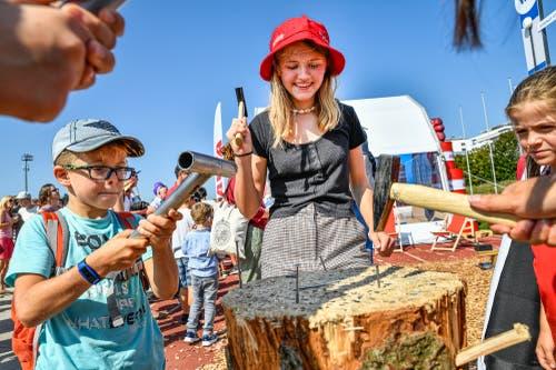 Spass auch fernab der Arena. (Bild: Christian H. Hildebrand, Zug, 24. August 2019)