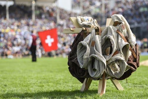 Die Schwingerhosen. (KEYSTONE/Urs Flüeler, 24. August 2019)