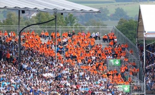 Die Helfertribüne. (Bild: Stefan Kaiser, Zug, 24. August 2019)