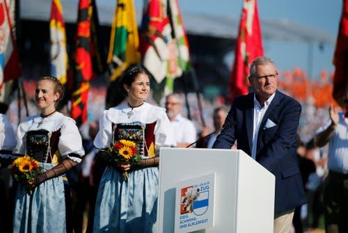 OK-Präsident Heinz Tännler. (Bild: Stefan Kaiser, Zug, 25. August 2019)