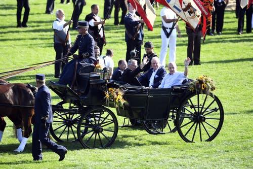 Bundespräsident Ueli Maurer am Festakt. (KEYSTONE/Ennio Leanza)