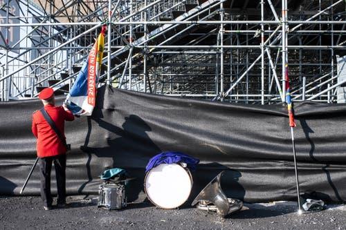 Der Festakt in der Arena. (KEYSTONE/Ennio Leanza)