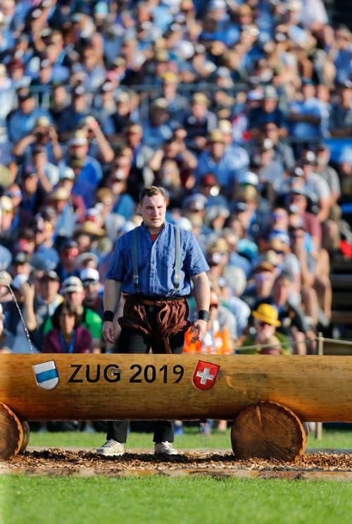 Joel Wicki ist nach dem gestellten Gang gegen Christian Stucki noch immer zuversichtlich. (Bild: Stefan Kaiser, Zug, 25. August 2019)