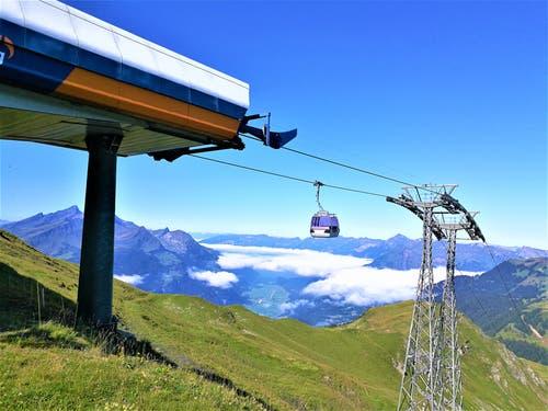 """Wunderschöne Aussicht auf das Nebelmeer vom """"Alpen Tower"""" auf Planplatten (2'250 m.ü.M.). (Bild: Urs Gutfleisch, Planplatten, 23. August 2019)"""
