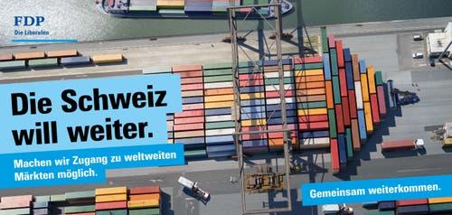 Export, der Zugang zu globalen Märkten und bilaterale Verträge spielen für den Freisinn eine zentrale Rolle im Wahlkampf. (Bild: FDP)