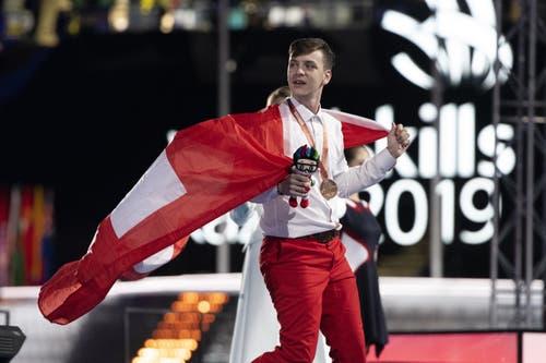 Holt Bronze für die Schweiz: Dario Colucci aus Gossau SG. (Bild: SwissSkills)