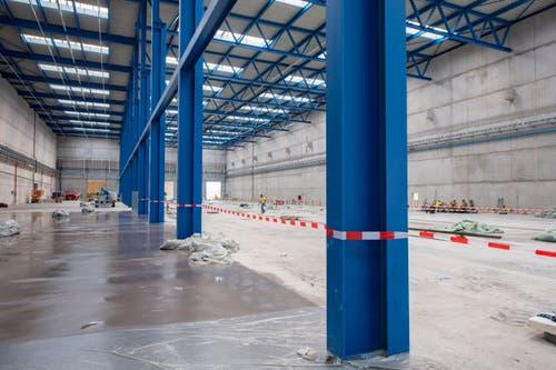 2500 Tonnen Stahl (mehr als im Kybunpark St.Gallen) wurden verbaut. (Bild: Urs Bucher)