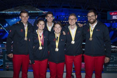Worldskills 2019 - die Schweizer Medaillengewinner (Bild: Michael Zanghellini)