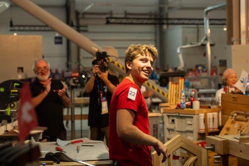 Bauschreiner Jérémie Droz. (Bild: SwissSkills)