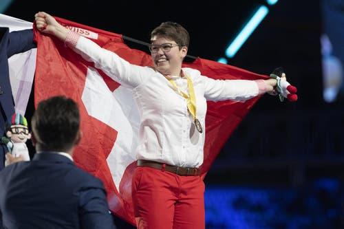 Holt Gold für die Schweiz: Sonja Durrer aus Krens OW. (Bild: SwissSkills)