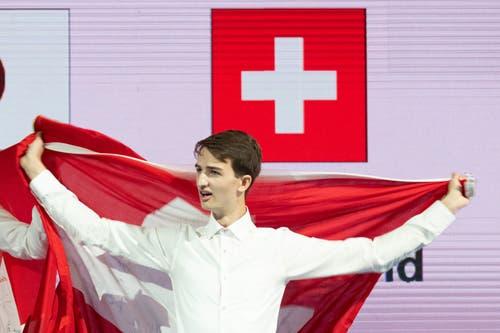 Holt Bronze für die Schweiz: Raphael Furrer aus Aarwangen BE. (Bild: SwissSkills)