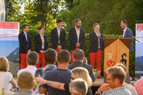 So wurden die Teilnehmer der Berufsweltmeisterschaften in Sachseln empfangen. (Bild: Izedin Arnautovic, 29. August 2019)