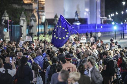 Proteste in den Strassen Londons. Bild: ap