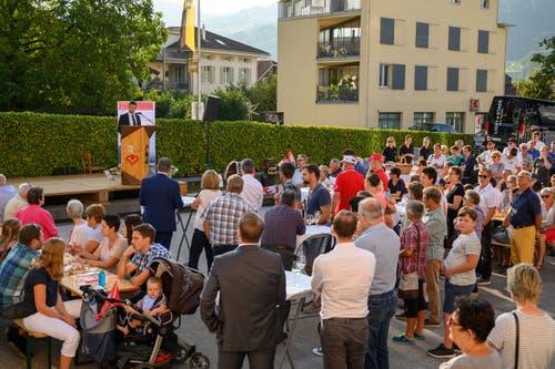 Zahlreiche Zuschauer wohnten den Feierlichkeiten bei. (Bild: Izedin Arnautovic, 29. August 2019)