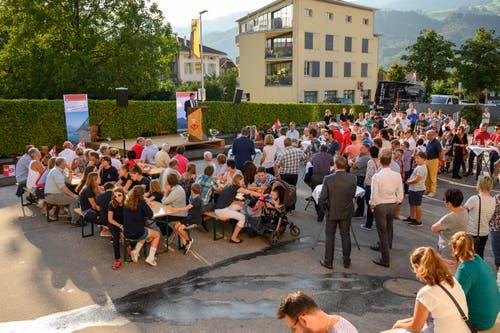 Blick auf das Festgelände im Dorfzentrum von Sachseln. (Bild: Izedin Arnautovic, 29. August 2019)