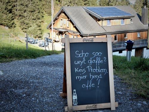 «Kei Zyt, kei Zyt!» Das sind zwei beliebte Worte der Pensionierten. (Bild: Margrith Imhof-Röthlin, Klewenalp, 30. August 2019)