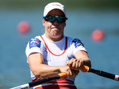 Jeannine Gmelin war im Halbfinal stark gefordert (Bild: KEYSTONE/PETER SCHNEIDER)