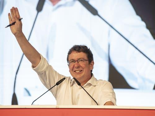 SVP Parteipäsident Albert Rösti eröffnet die Wahlkampfphase seiner Partei. (Bild: KEYSTONE/URS FLUEELER)