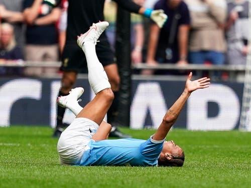 Der von Bayern München umworbene City-Flügel Leroy Sané verletzt sich am Knie (Bild: KEYSTONE/EPA/WILL OLIVER)