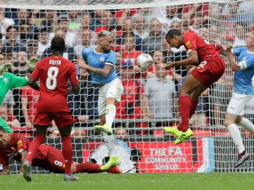 Joel Matip gleicht für Liverpool per Kopf aus (Bild: KEYSTONE/AP/KIRSTY WIGGLESWORTH)