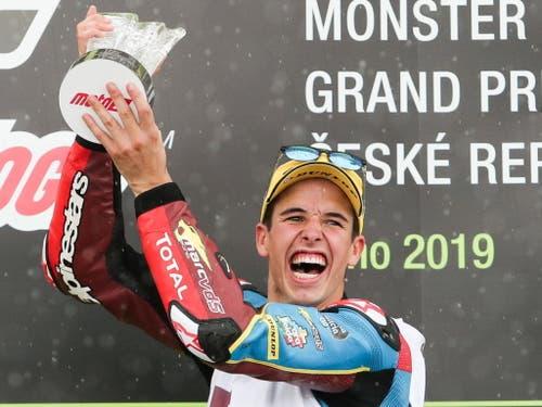Alex Marquez feiert in Brünn seinen 12. GP-Sieg (Bild: KEYSTONE/EPA/MARTIN DIVISEK)