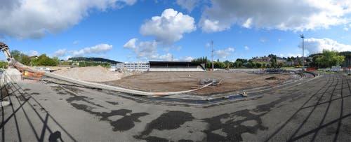 Im September 2009, das Stadion Allmend war schon fast komplett abgerissen. (Bild: Boris Bürgisser)