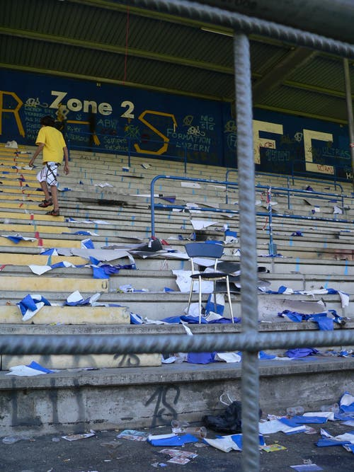 Das Allmend Stadion am Morgen nach dem letzten Spiel. (Bild: Jérôme Martinu)