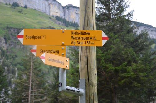 Für Wanderer, die nicht so hoch hinaus wollen, geht es weiter Richtung Wasserrauen.