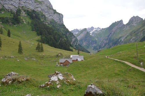 In Klein-Hütten eröffnet sich ein Blick über die prächtige Bergwelt.