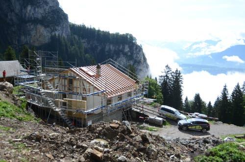 Die Baustelle auf 1213 Meter über Meer.