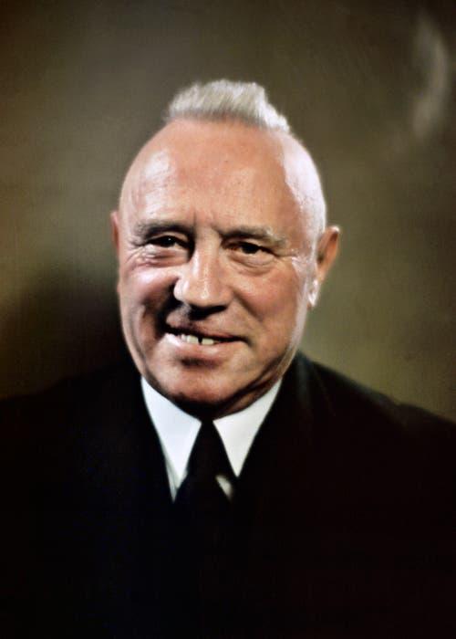 Rudolf Minger (1881–1955) Bundesrat, Bundespräsident, Ehrenzofinger.
