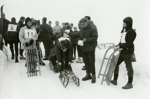Jährlich wurden Skitage in Sörenberg (Bild von 1968) ...