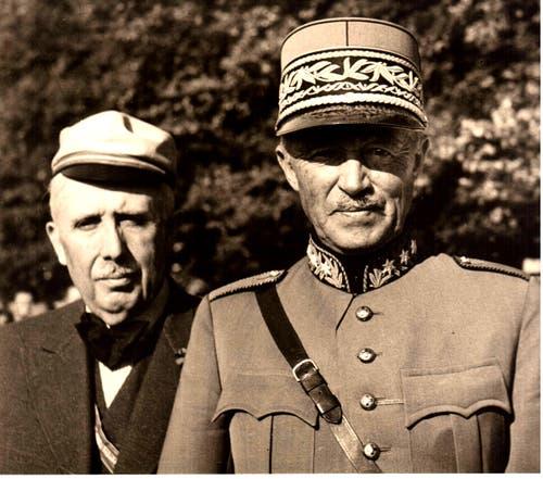 Henry Guisan (1874–1960) Oberbefehlshaber der Schweizer Armee im Zweiten Weltkrieg.