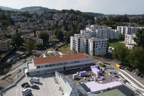 Das Aalto Hochhaus hat eine grandiose Aussicht. (Bild: Boris Bürgisser, Luzern, 29. August 2019)
