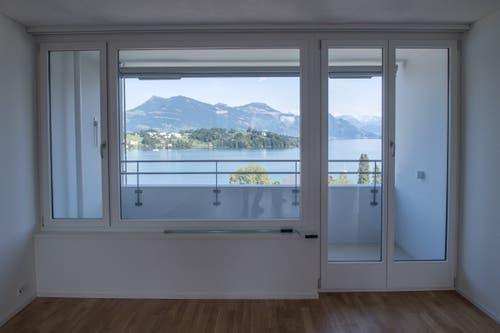 Das Aalto Hochhaus von innen. (Bild: Boris Bürgisser, Luzern, 29. August 2019)