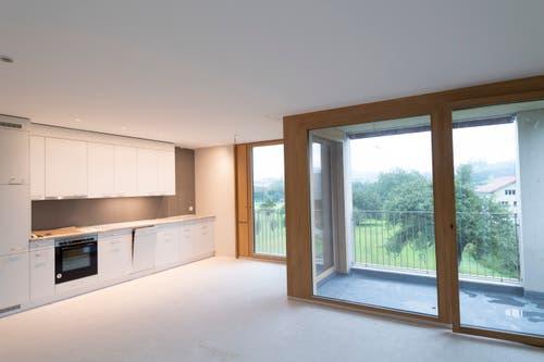 Die Wohnungen sind alle mit einer Küche und einer Loggia ausgestattet.