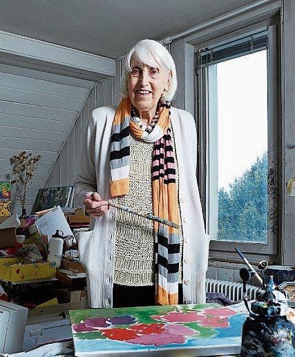 Sie arbeite so lange an einem Bild, bis das Licht wahrnehmbar werde, sagte Maria Hafner einmal. Bild: PD