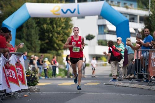 Der Sieger bei den Herren: Jonas Schöpfer. (Bild: Eveline Beerkircher, Littau, 14. September 2019)