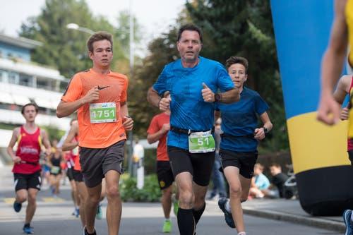 Nik Kottmann aus Luzern (links) und Patrick Nöthiger vom BSC Wohlen. (Bild: Eveline Beerkircher, Littau, 14. September 2019)