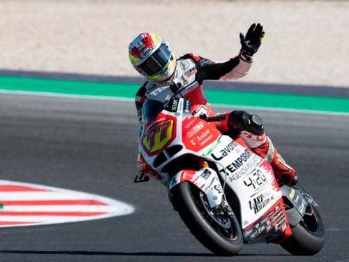 Dominique Aegerter kam im GP von San Marino nicht über den 18. Rang hinaus (Bild: KEYSTONE/AP ANSA/LORENZO DI COLA)