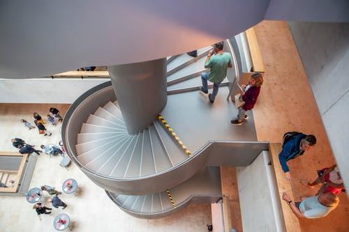 Die Wendeltreppe aus einer anderen Perspektive. (Bild: Patrick Hürlimann, Rotkreuz, 14. September 2019)