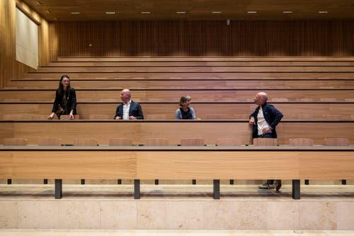 Der Saal wird wohl bald etwas besser gefüllt sein. (Bild: Patrick Hürlimann, Rotkreuz, 14. September 2019)