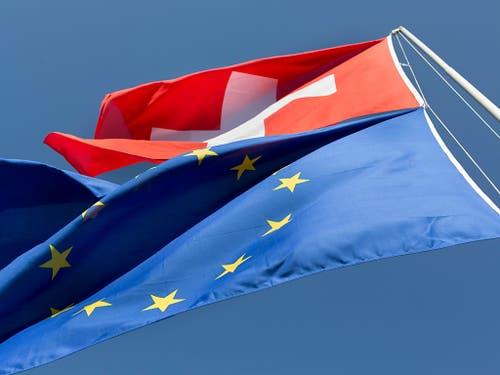 Bei der nationalrätlichen Debatte zur Begrenzungsinitiative der SVP geht es einmal mehr auch um die Zukunft der Beziehungen mit der Europäischen Union. (Bild: KEYSTONE/GAETAN BALLY)