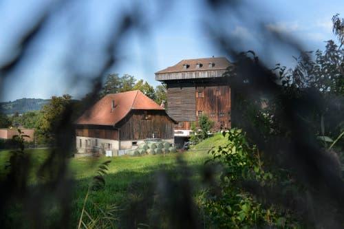 Neben dem Tröckneturm steht im Areal, das die Stadt gekauft hat, auch eine landwirtschaftlich genutzte Scheune.