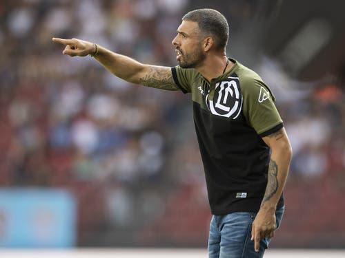 Europa League in einer schwierigen Phase: Lugano mit Coach Fabio Celestini steht nach ungenügenden Resultaten in der Meisterschaft unter Druck (Bild: KEYSTONE/ENNIO LEANZA)