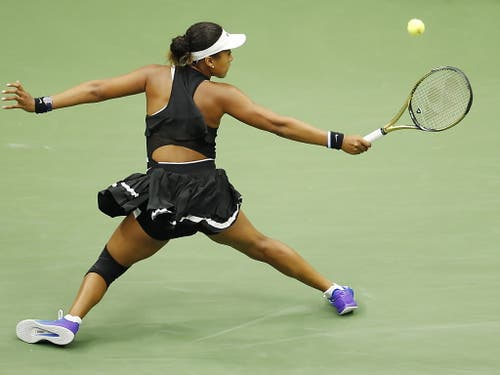 Naomi Osaka gerät in die Defensive. (Bild: KEYSTONE/EPA/DANIEL MURPHY)