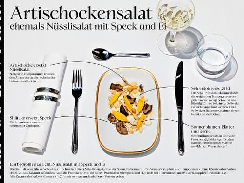 Neue Kreationen statt traditionelle Gerichte: Artischocken könnten den wegen der Hitze verbrannten Nüsslisalat ersetzen. (Bild: Umweltallianz)