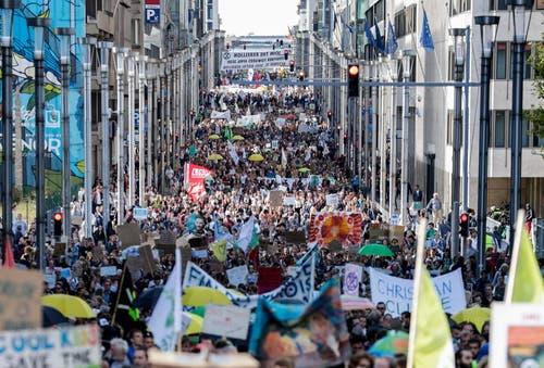 Die Klimastreiks rund um den Globus (Bild: (cma/sda/dpa/reu/afp))